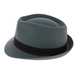 Trilby Hat Corleone Cotton Trilby Hat Blue-Grey - Traclet