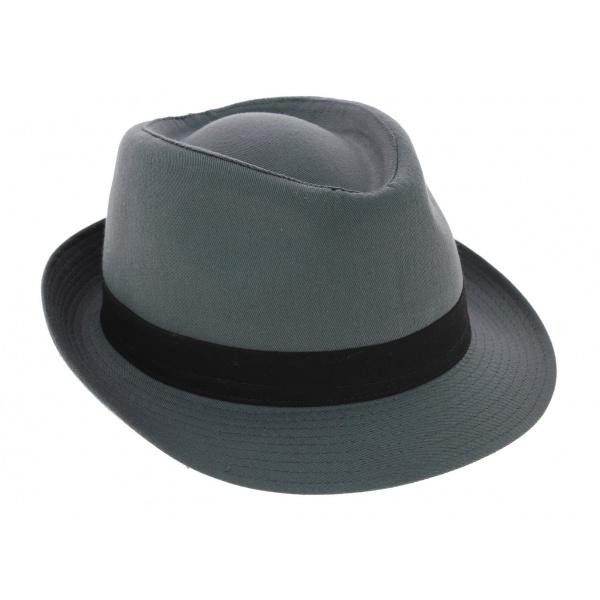 Chapeau Trilby Corleone Coton Bleu-Gris - Traclet