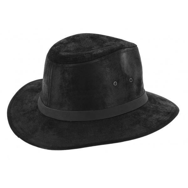 Traveller Hat Flinder Leather Black - Traclet