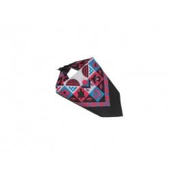 Bandana Headscarf rose bleu