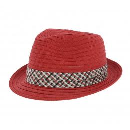 Chapeau trilby/ porkpie Scriba Toyo - Rouge