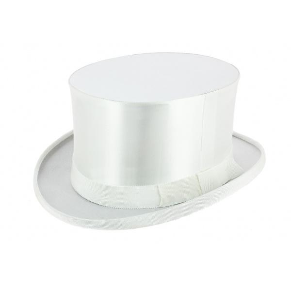 adc7491b6875 Chapeau Claque Blanc Soie Synthétique - Wegener ...