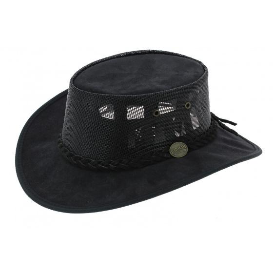 Chapeau Australien Foldaway Cooler Noir - Barmah