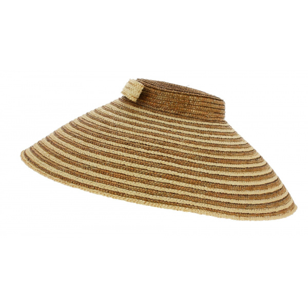 Chapeau Chinois Wulan Paille Bicolore - Traclet