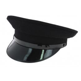 Casquette de Chauffeur Laine Noir - Traclet