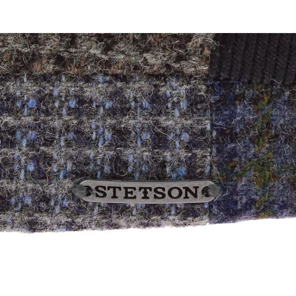 Casquette Texas Patchwork Laine Bleu - Stetson
