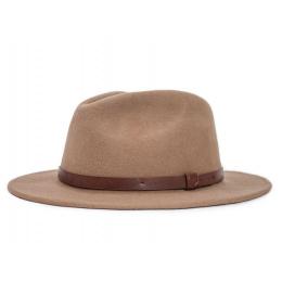 Chapeau Fedora Messer Feutre Laine Camel- Brixton