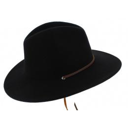 Traveller Hat Field Wool Felt Black - Brixton