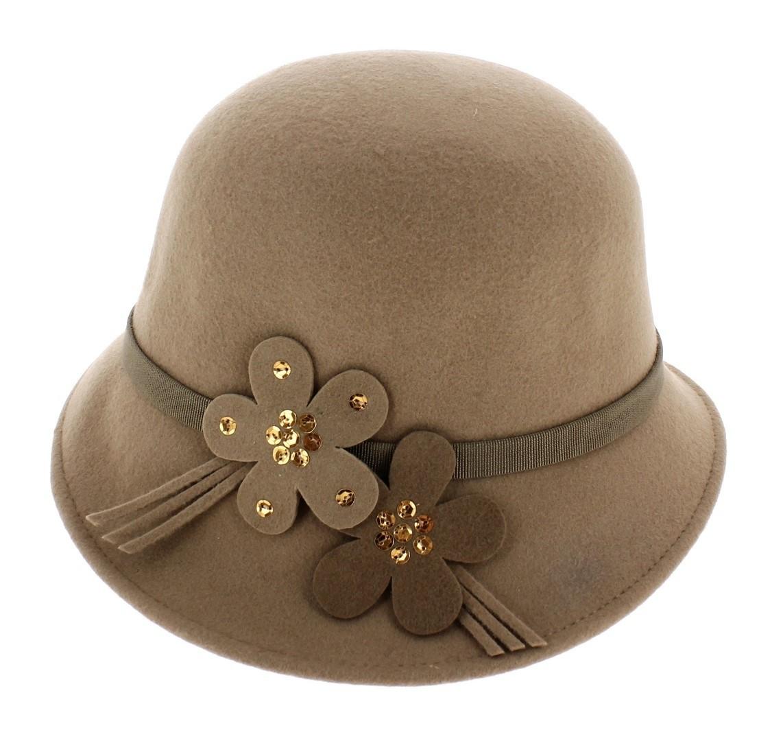 Femmes Chaud Brossé ANGORA Laine Mix Nœud cloche hiver mode chapeau violet