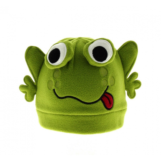 Funny frog cap green frog child