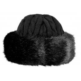 Bonnet-Toque Cable Fausse Fourrure Noir - Barts