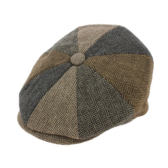 patchwork Irish cap