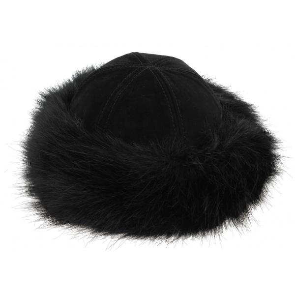 buy popular vast selection outlet store Toque Femme Oxana Noir Cuir - Traclet