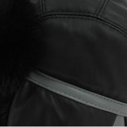 Leather chapka