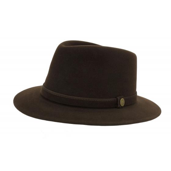 Traveller l'Uomo Felt Hat Brown Hair - Guerra 1855
