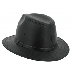 Black Smooth Leather Traveller Hat - Henschel