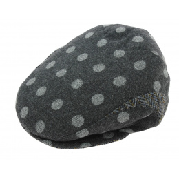 Casquette Plate Troon Laine Anthracite - Mtm