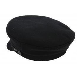 Casquette de Marin Cancale Laine Noir - Traclet
