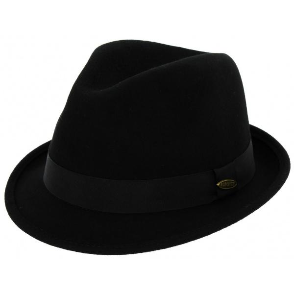 Chapeau Feutre Laine Galop Flechet Noir