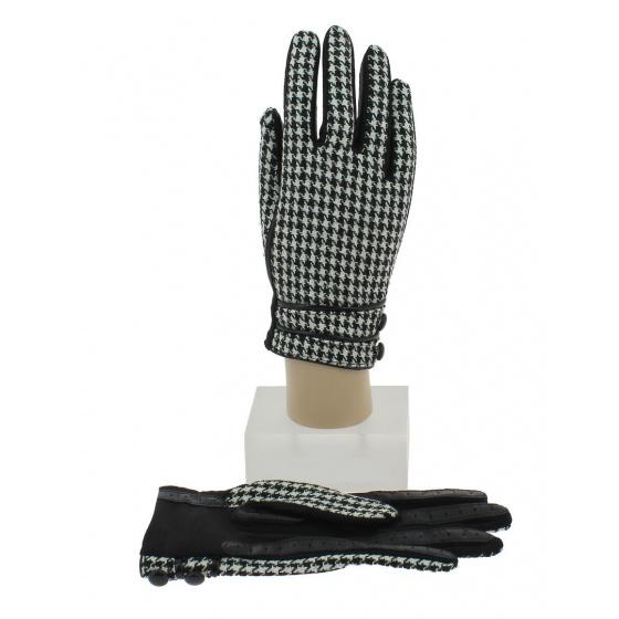 Gants Tactiles Femme Damier Noir & Blanc - Isotoner