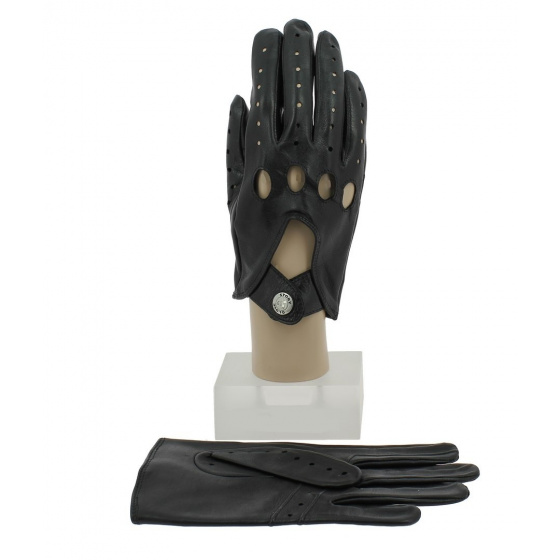 Gants de Conduite Cuir d'Agneau Noir - Glove story