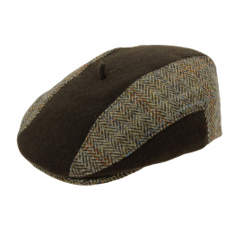 Casquette Plate Harry Tweed Marron