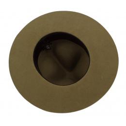 Chapeau Scout Classique Feutre Laine Olive - Traclet