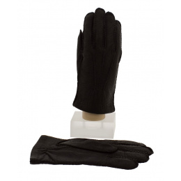 Peccary Man Gloves & Brown Cashmere - Picaros