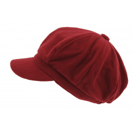 Casquette Gavroche Polaire Rouge - Traclet