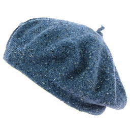 Silk Cotton & Linen Blue Summer Beret- Le Béret Français