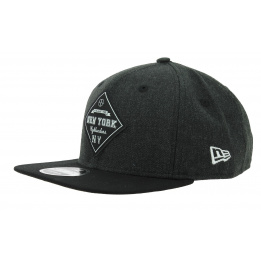 Snapback Heather Coop Black Wool Cap - New Era