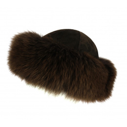 Ivanna Leather & Brown Fox Toque - TRACLET