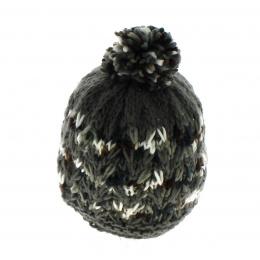 Bonnet Pompon Cachemire Ivernio Noir - Kristo
