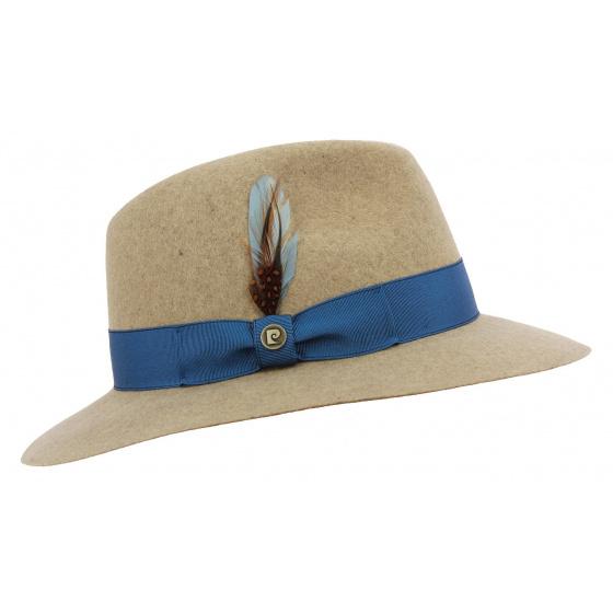 Traveller Hat SummerTime Wool Felt Beige - Pierre Cardin