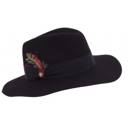 Destiny Black Wool felt floppy hat - Pierre Cardin