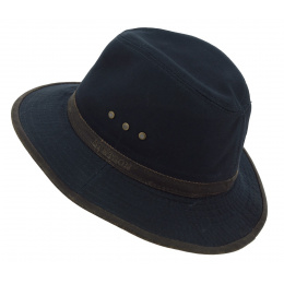 Traveller Hat Ava Ruston Navy Cotton Hat - Stetson