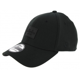Casquette Baseball Fitted Patched Tone Noir - New Era