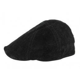 Black leather cap Caloway by Traclet