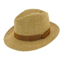 Chapeau Fédora Lerman Paille Beige - Bailey