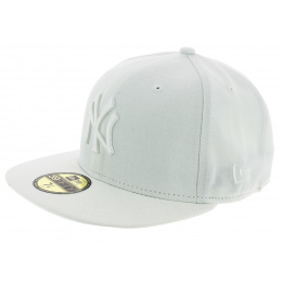 Fitted Basics 59 Fifty Yankees NY White Cap - New Era