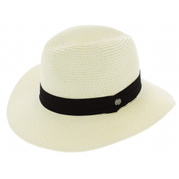 Chapeau Traveller The Andie Paille Papier Blanc - Coal