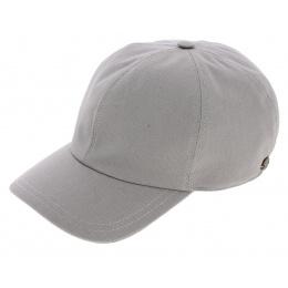 Akil Grey Linen Baseball Strapback Cap - Mtm