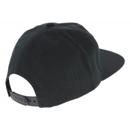 Black Cotton Snapback Cap - Huf