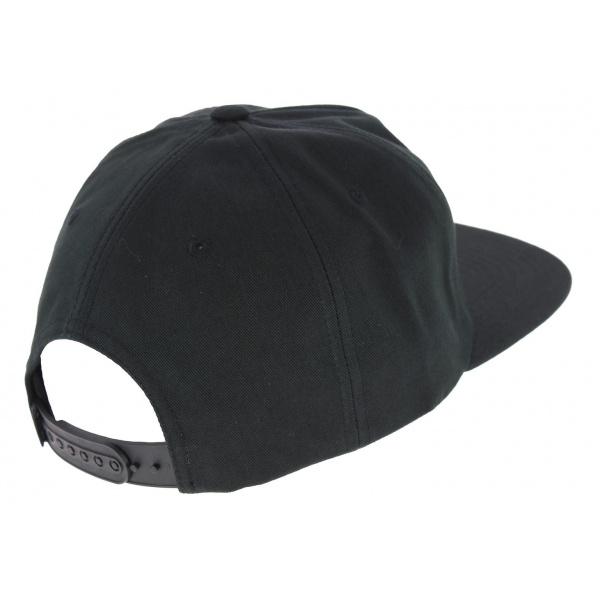 Black Cotton Snapback Script Cap - Huf