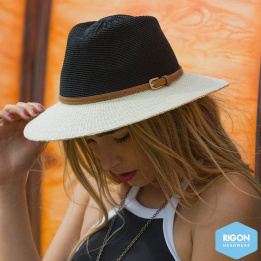 Chapeau Traveller Paris Manish Style Noir & Blanc - Rigon Headwear