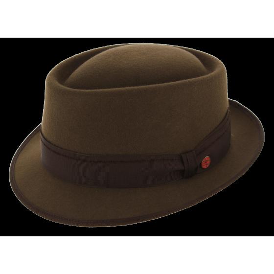 Trilby Rostock Wool Felt Hat Brown - Mayser