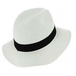 Chapeau Traveller Acapulco Paille Papier Blanc - Traclet