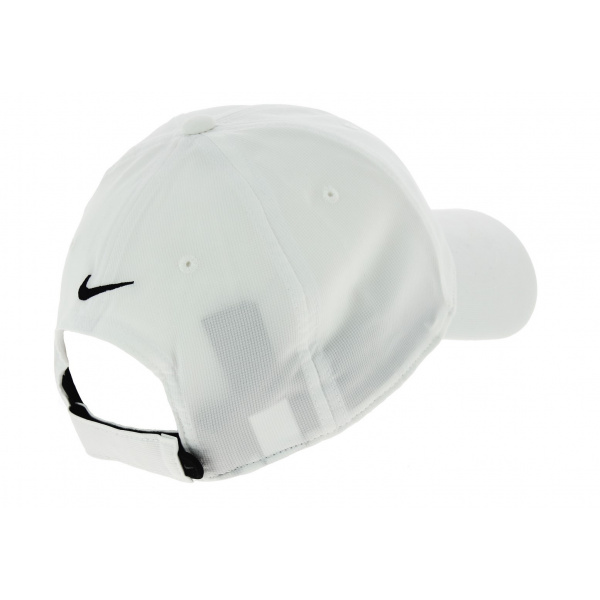 White Strapback Golfer Baseball Cap - Nike