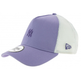 Casquette Trucker Pastel Snapback NY Yankees Violet - New Era