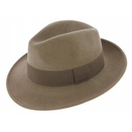 Fedora Vanador Vanador Hat Felt Wool Waterproof Beige - Traclet